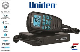 Uniden UH9060 Mini Compact UHF CB Mobile with Remote Speaker with Large LCD with Smart Mic